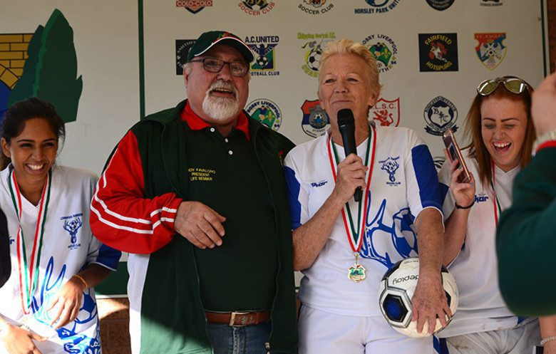 Lorraine Peel is the world's oldest female football (soccer) player.