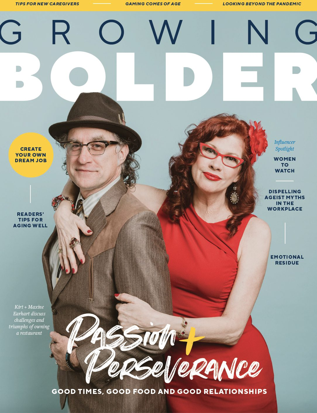 Cover of Summer 21 Growing Bolder Magazine